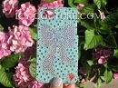 ICY & CO - Tiffany Blue Swarovski Crystal Bling Phone cover.