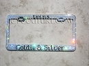 TWINS  - custom message Crystal License Plate Frame. Whats Your Colors?