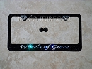 WHEELS OF GRACE Custom Swarovski Crystals License Plate Frame. Whats Your Colors?