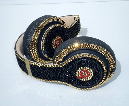 24K Gold Black Edition Haute Couture Beats Design with Swarovski Crystals