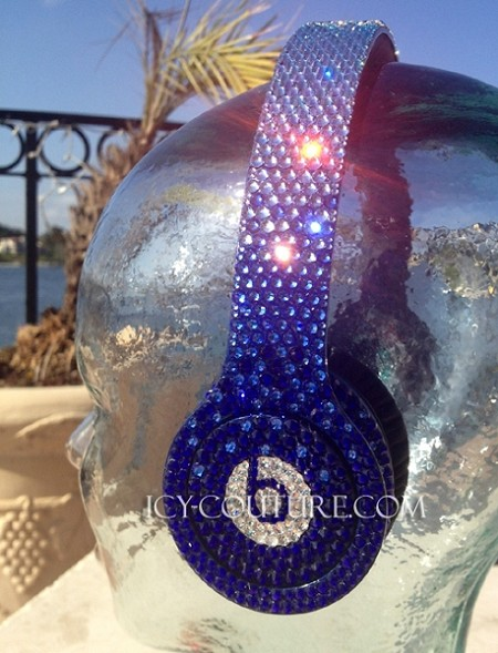 BLUE FADE - Crystal Beats by Dre Bedazzled Headphones. Whats Your Colors?