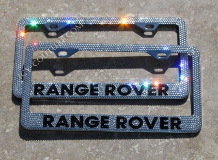 sparkling hot range rover license plate frame whats your car model