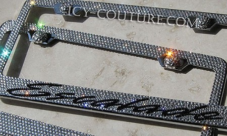 Cadillac ESCALADE Crystal Bling License Plate Frame. Whats Your Colors?