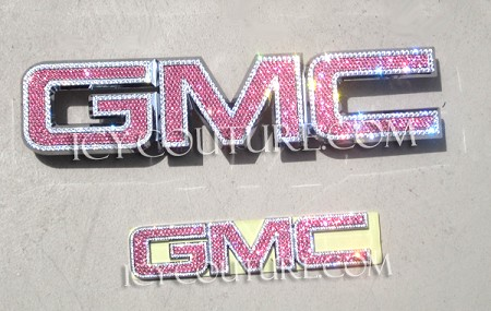 Bedazzled Crystal GMC Emblem. Bling Your Car!