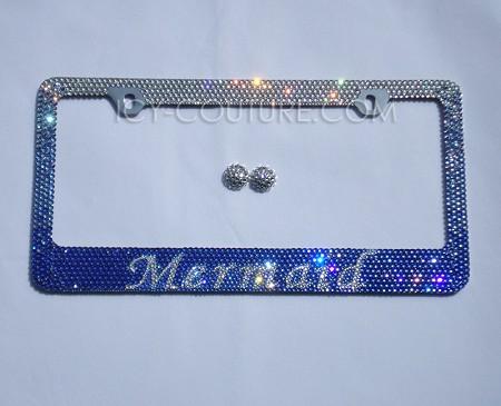 MERMAID Swarovski Crystal License Plate Frame