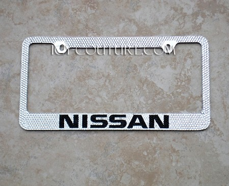 nissan swarovski crystal license plate frame whats your colors