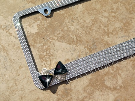 3D CRYSTAL BOW Swarovski Crystal License Plate Frame. Whats Your Color?