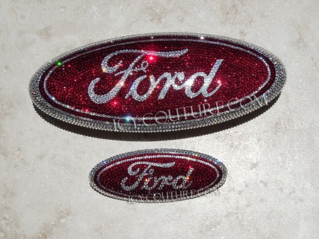 FORD TRUCKS Crystal emblems. Select Your Set. Whats your colors?