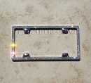 ICY Couture 3 Row Swarovski Crystal Bling License Plate Tag Frame. Whats Your Color?