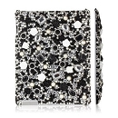Black-n-White 3D Acrylic Rhinestone Bling iPad 2 cover case