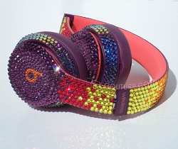 Limited Edition - Magenta Pop Ombre Beats Design with Swarovski Crystals