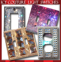 Crystal Light Switch Covers