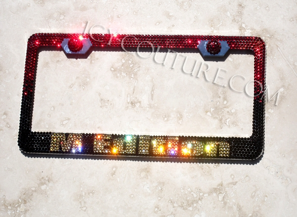 Decorative Chrome Or Crystal Screw Caps For License Plate