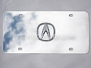 Crystal ACURA 3D Logo License PLATE.  Whats Your Color?
