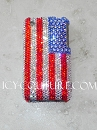 American Flag, bedazzled Crystal phone case. Bling Your Phone!
