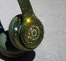 MONEY GREEN 24K GOLD  Swarovski Crystals Bling BEATS by Dre