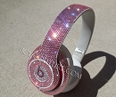 LIGHT ROSE Beats by Dr. Dre Bedazzled Headphones. Whats Your Color?