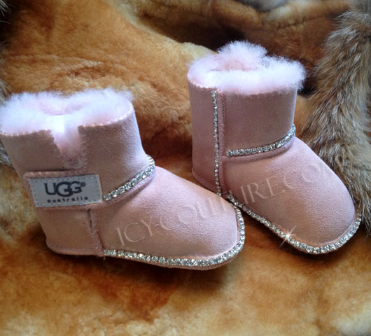 ccbf3ad1a5fa ICY Couture Pink or Brown BABY UGGS Boots with Bling