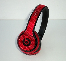 Blazing Hot Beats Design with Swarovski Crystals
