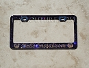 YOUR BUSINESS NAME Custom License Plate Frame with Swarovski Crystals