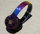 Bling Beats by Dre in CUSTOM Crystal OMBRE Colors
