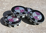 Crystal BMW Center Wheel Rim Caps: Pink, Black, Any Color!