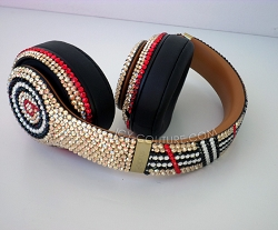 Designer Edition - Burberry Inspired Beats Design with Swarovski Crystals