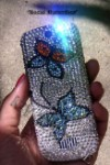 Social Butterflies Swarovski design on your phone