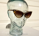 ICY Couture OXANA Swarovski Crystal Chain Brown Sunglasses