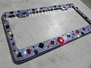 CRYSTAL GALAXY - bedazzled License Plate Frame