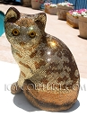 COLLECTOR's ITEM: Antique, ICY Couture Bedazzled Swarovski Crystal Cat Statue