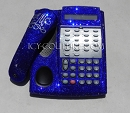 COBALT BLUE Crystal Office Phone