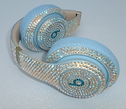 Crystal Blue Skyline Beats Design with Swarovski Crystals