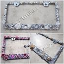 DESIGN YOUR OWN 3D Rhinestone License Plate Frame by ICY Couture. Select Your theme!