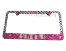 Super Detailed Sorority or Your Message Swarovski Bling License Plate Frame