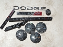 Crystal Bling DODGE Emblems. Select Your Set!