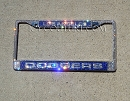 DODGERS FAN Swarovski BLING License Plate Frame. Whats Your Team?