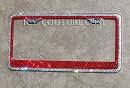 TWO-COLOR Swarovski Crystal License Plate Frame