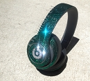 EMERALD custom Bling BEATS with Swarovski Crystals
