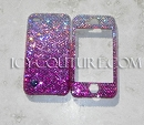 PINK OMBRE EFFECT Phone Design Swarovski Crystals