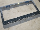 Two Color Fade ICY Signature License Plate Frame with Swarovski Crystals
