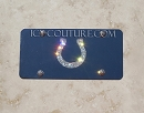 Indianapolis Colts Crystal License PLATE.  Whats Your Colors?