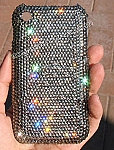 Black Diamond - Swarovski phone cover. Bling My Phone!