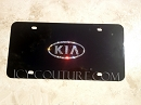Black, or Chrome, Bling KIA License Plate with Swarovski Crystals