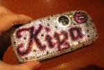 Kiya-style. Outline Your Name in Crystals. Bling Your Phone