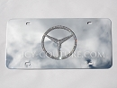 Crystal MERCEDES 3D Logo License PLATE.