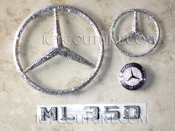 Bedazzle Your Mercedes Emblems With Swarovski Crystals
