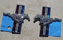 Set of MUSTANG door emblems bedazzled in Swarovski crystals
