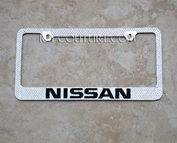 Nissan Swarovski Crystal License Plate Frame Whats Your