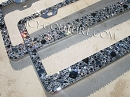 BLACK DIAMOND Old Hollywood Crystal License Plate Frame!